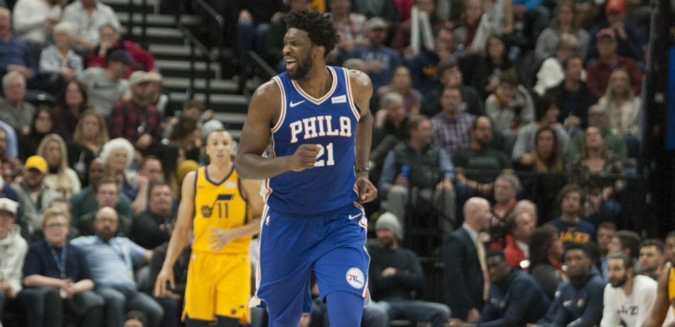 Joel Embiid Postgame Press Gaggle Interrupted By Jeff Garlin